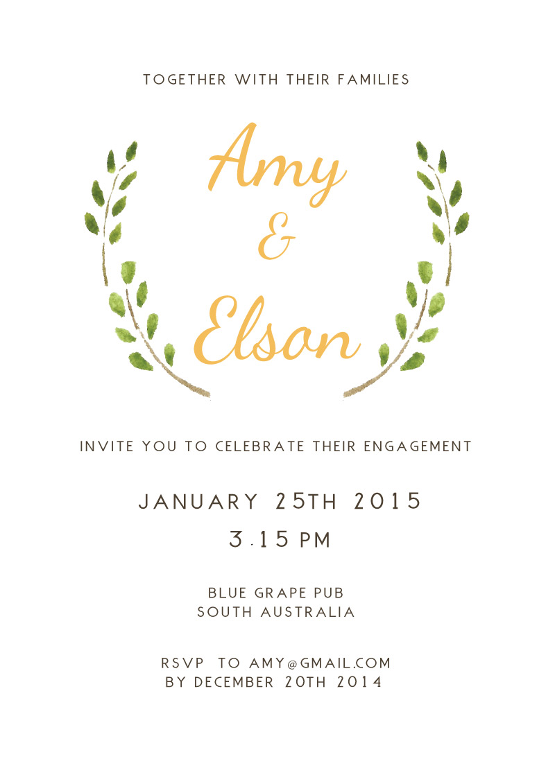 Olivia - Engagement Invitations