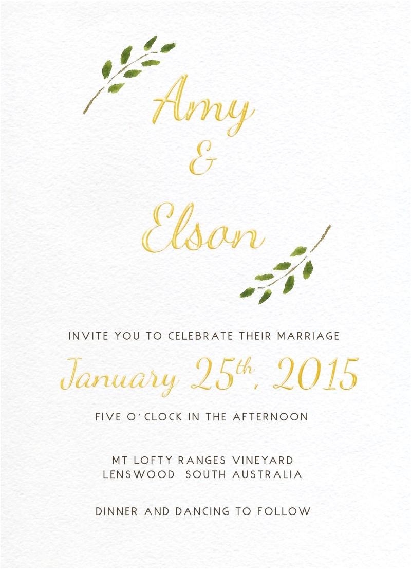 Olivia - Invitations