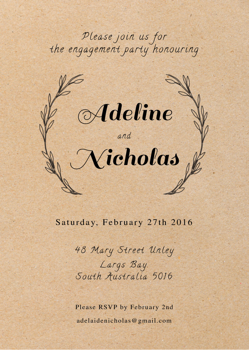 Rustic - Engagement Invitations