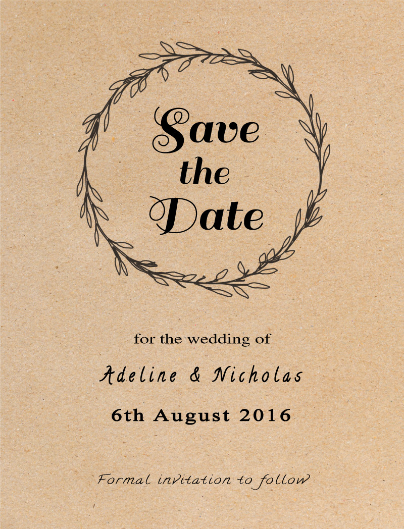 Rustic - Save The Date