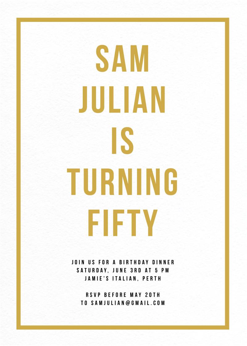 Fabulous - Birthday Invitations