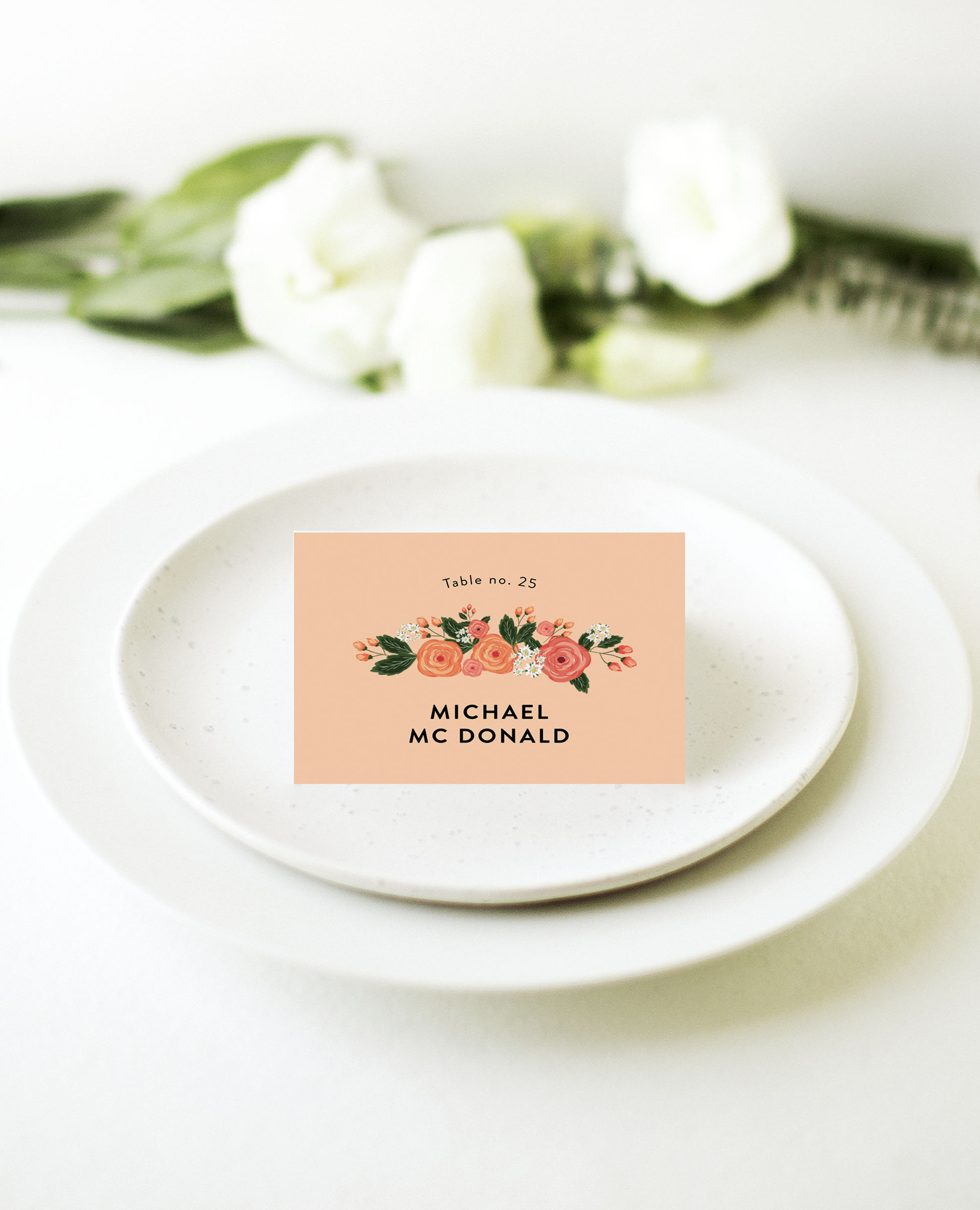 Florals - Place Card
