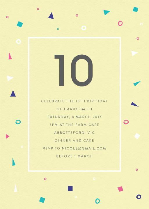 Pastel Neon - Birthday Invitations