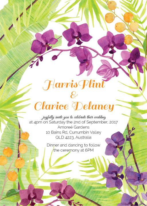 Island Wedding - Invitations