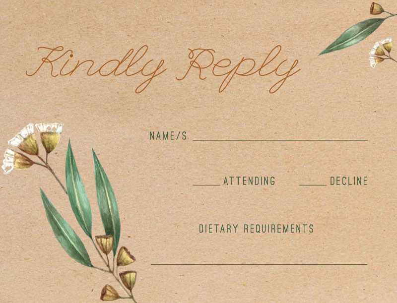 Under the Eucalyptus - RSVP Cards