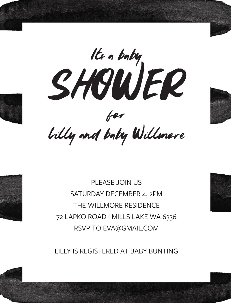 Bold Baby - Baby Shower Invitations