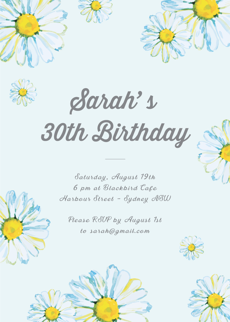 Blissful Birthday - Birthday Invitations