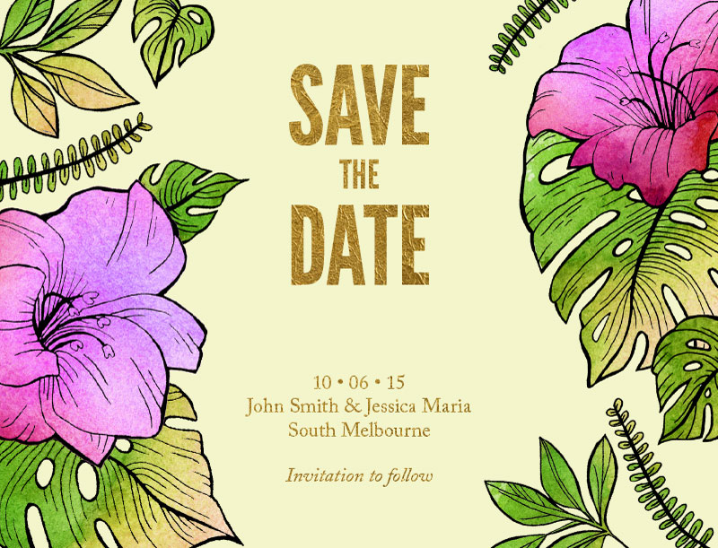 Aloha Florals - Save The Date