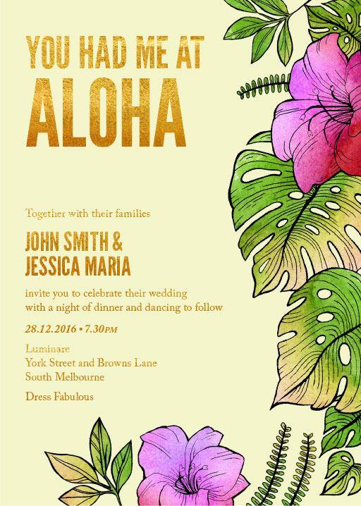 Aloha Florals - Invitations