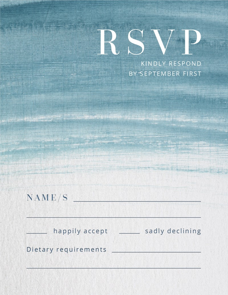 Splatter - RSVP Cards