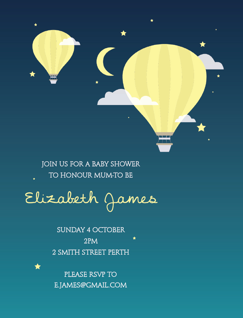 Sweet Baby Dreams - Baby Shower Invitations