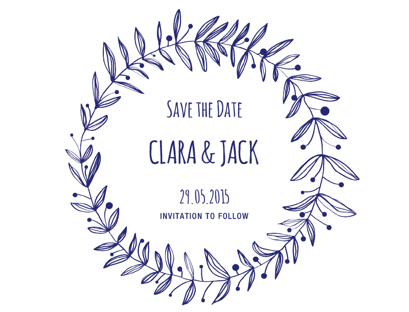 Rustic Gardens - Save The Date