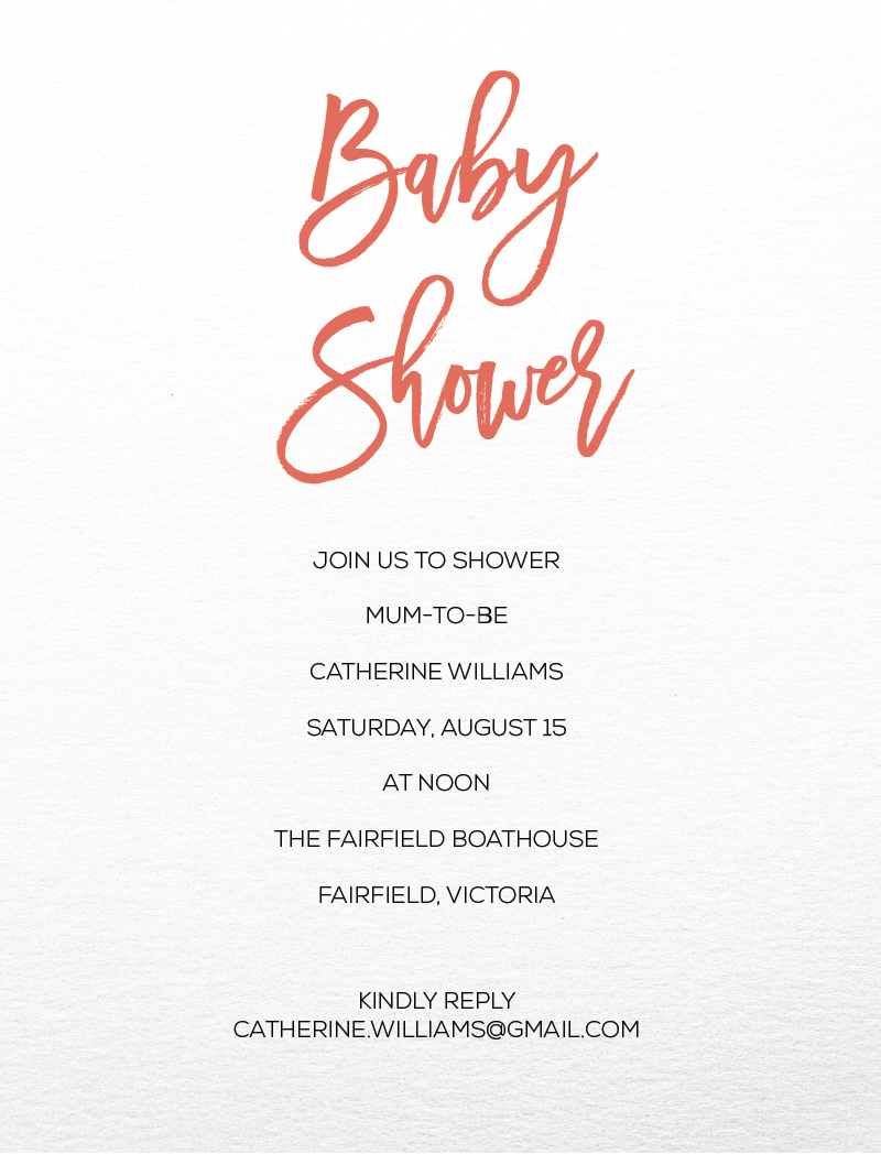 Minimal - Baby Shower Invitations