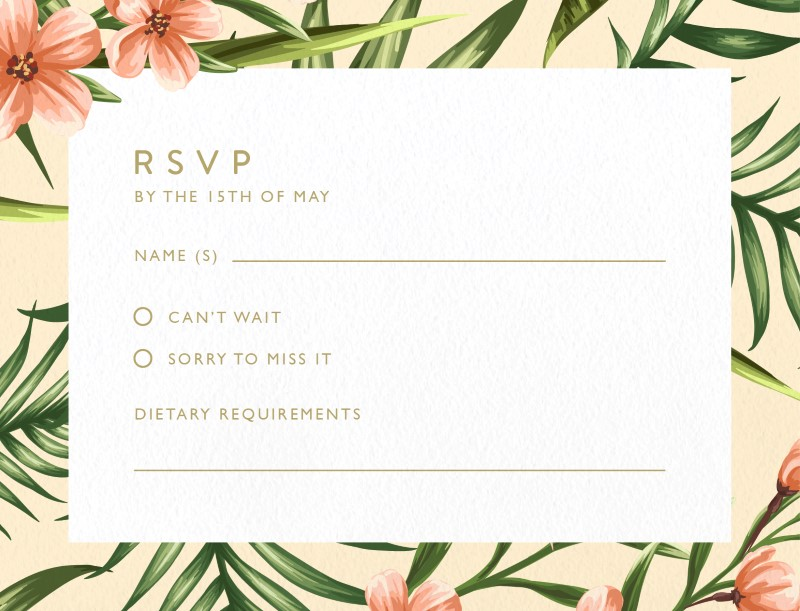 Sweet Tropical - RSVP Cards