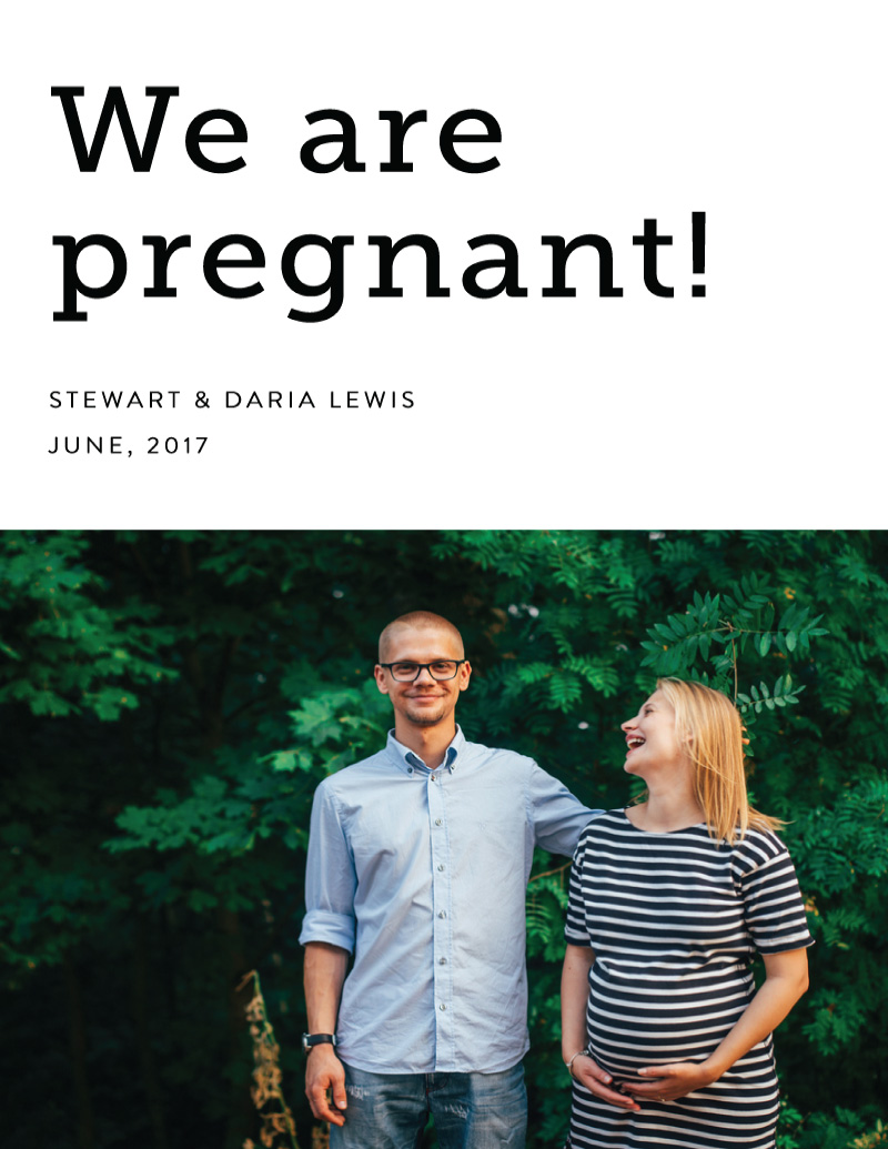 We are pregnant - Pregnancy Announcements