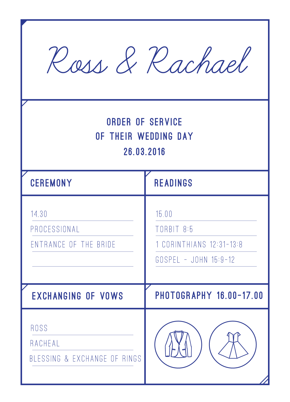 Box - Order of Services