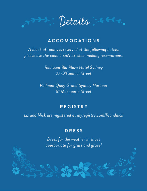 Peacock Botanicals - Information Cards