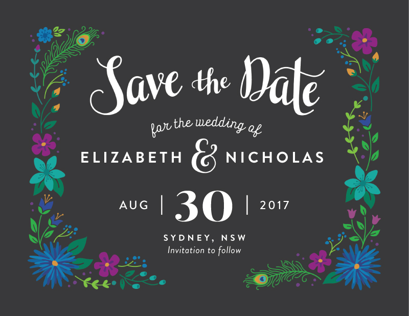 Peacock Botanicals - Save The Date