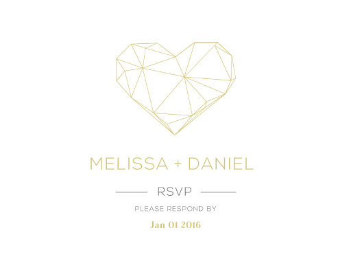 Diamond Love - RSVP Cards