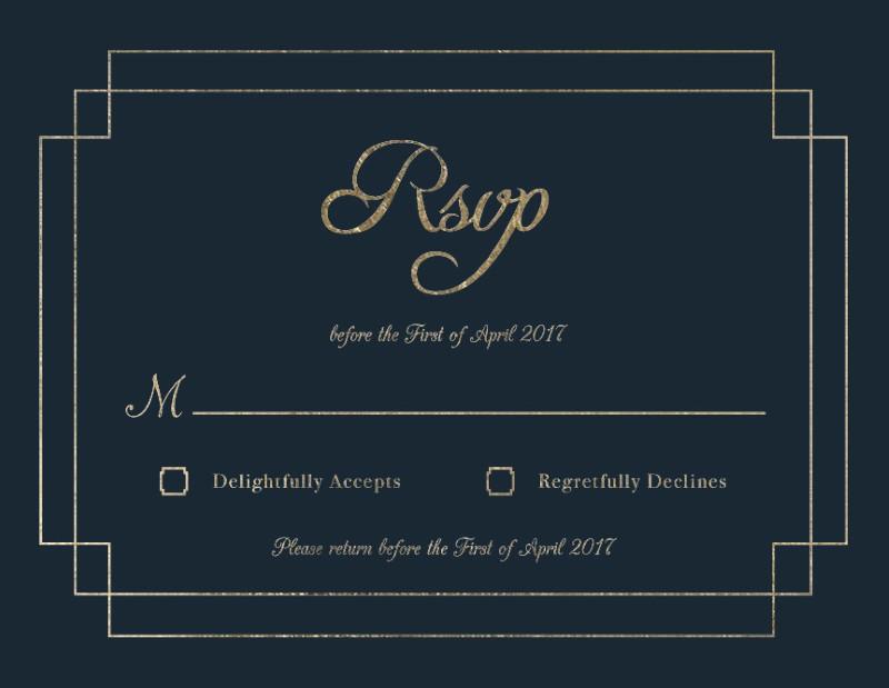 Elegance - RSVP Cards