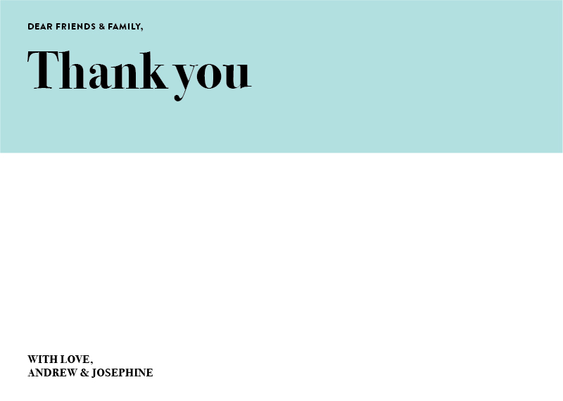 Pastel Pantone - Thank You Cards
