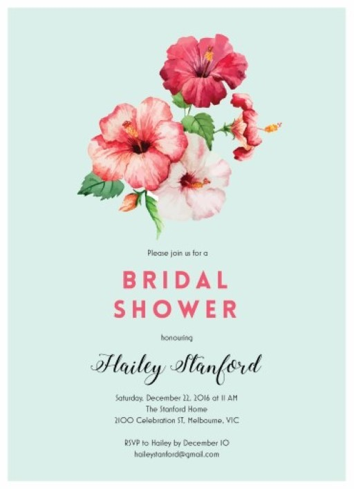 Into the Red - bridal shower invitations