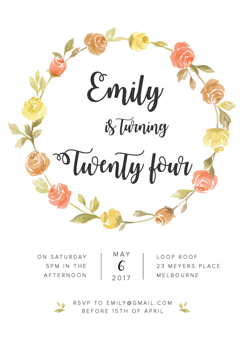 Sweet & Rustic - Birthday Invitations