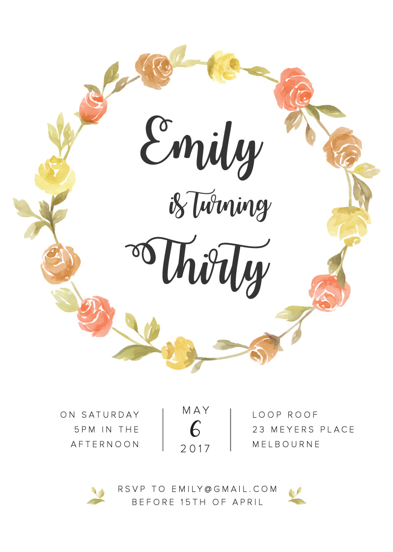 Sweet & Rustic - Birthday Invitations