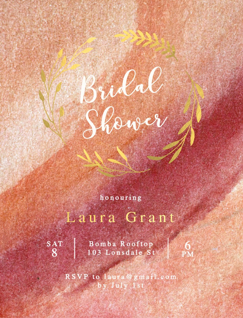 Blush - Bridal Shower Invitations
