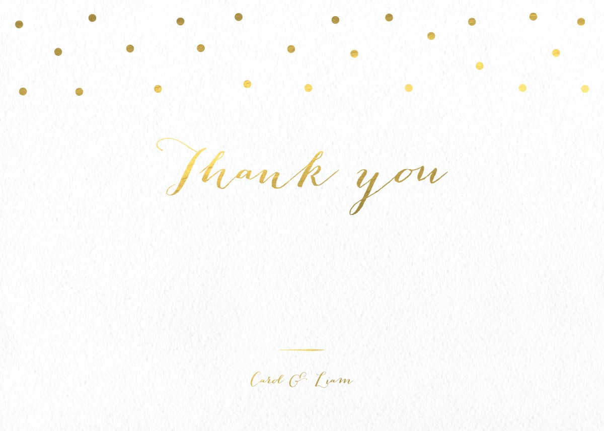 Goldie dots - Thank You Cards