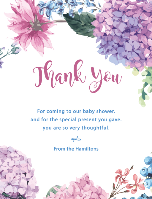 Fiore - baby shower thank you cards
