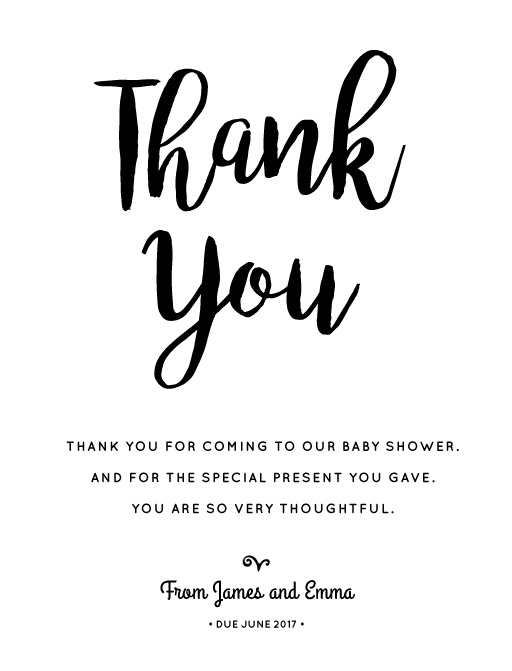 Our Family is Growing - baby shower thank you cards