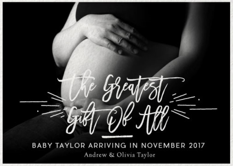 The Greatest Gift of All - Pregnancy Announcements