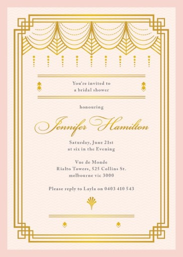 Elegant Shower - bridal shower invitations