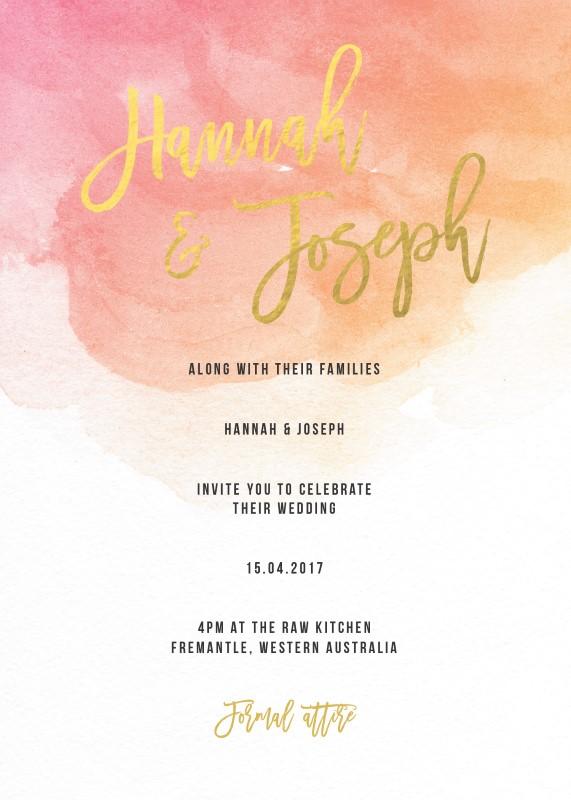 Aquarelle - Invitations