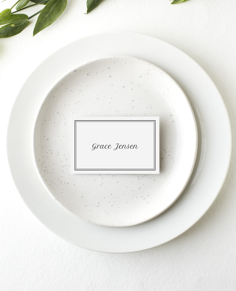 Double border - Place Card