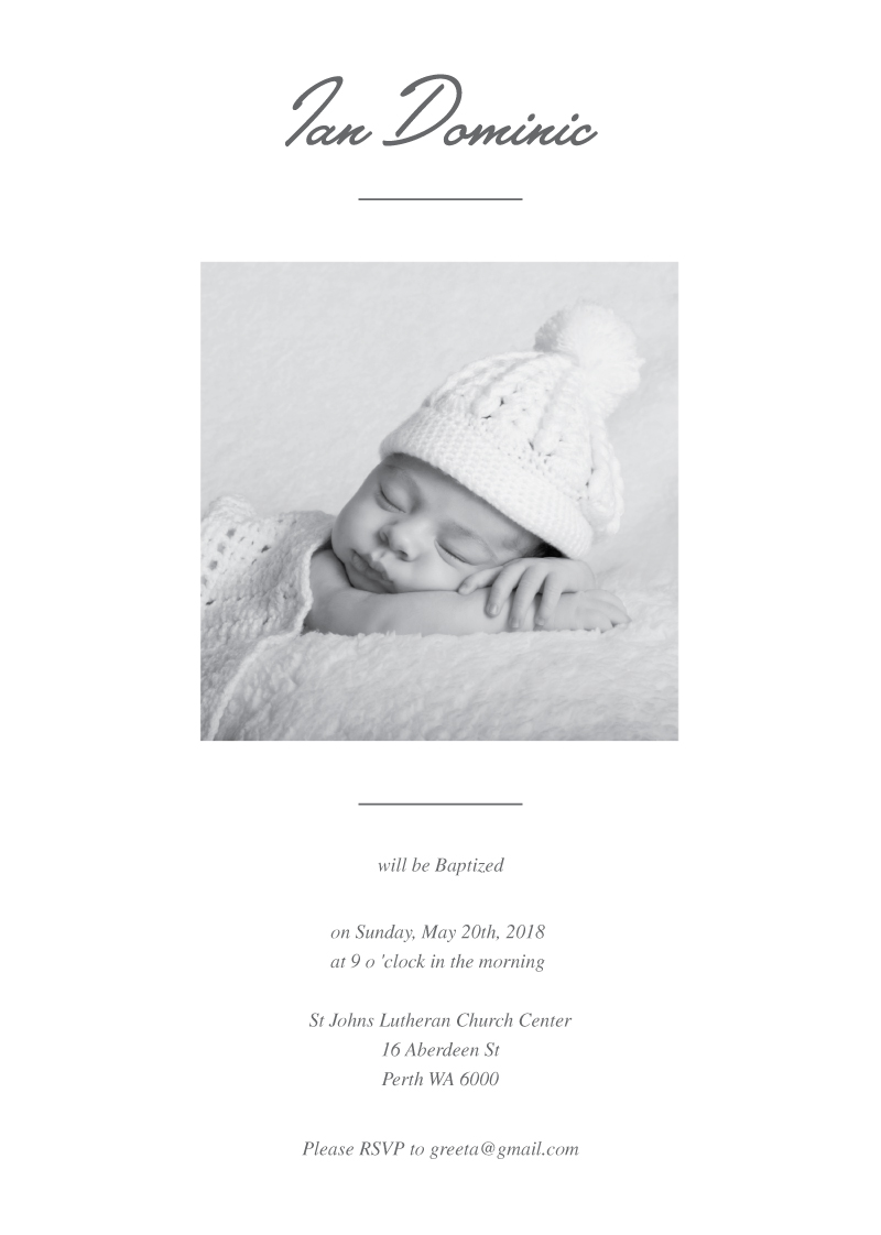 Blessed Day - Christening Invitations