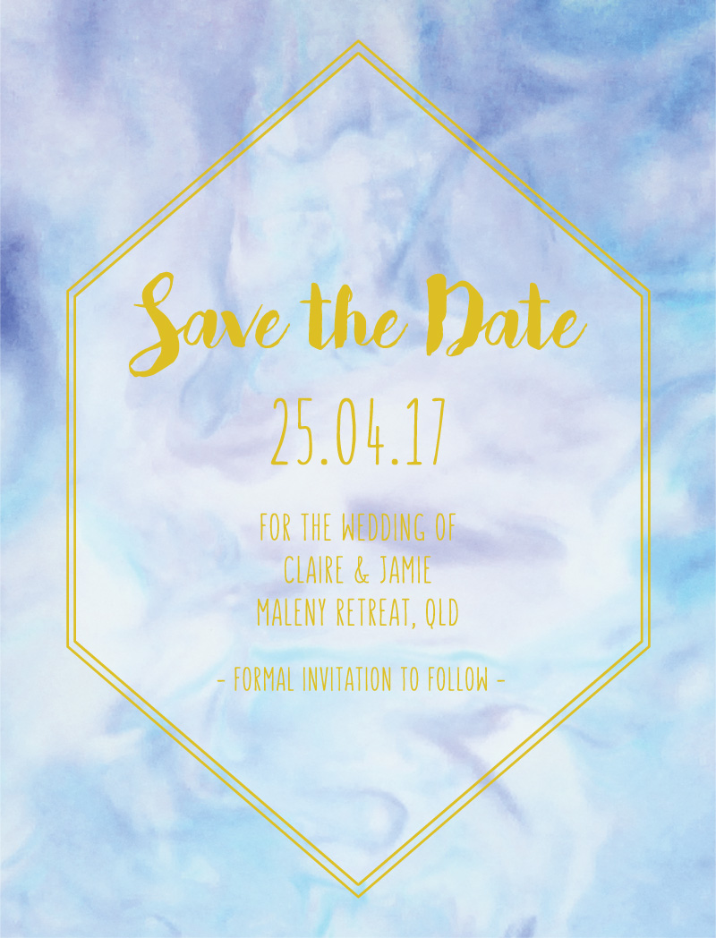 Marble Wedding - Save The Date
