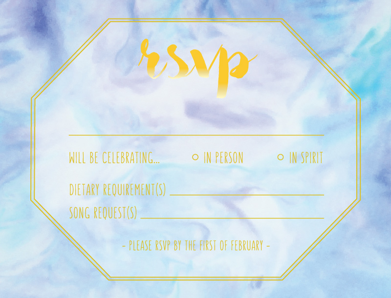 Marble Wedding - RSVP Cards