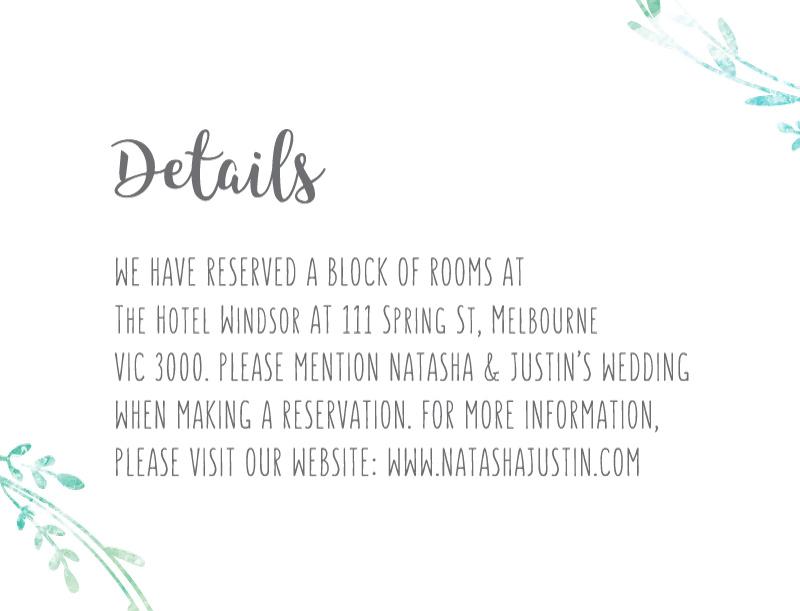 Leaf Wreath - Information Card