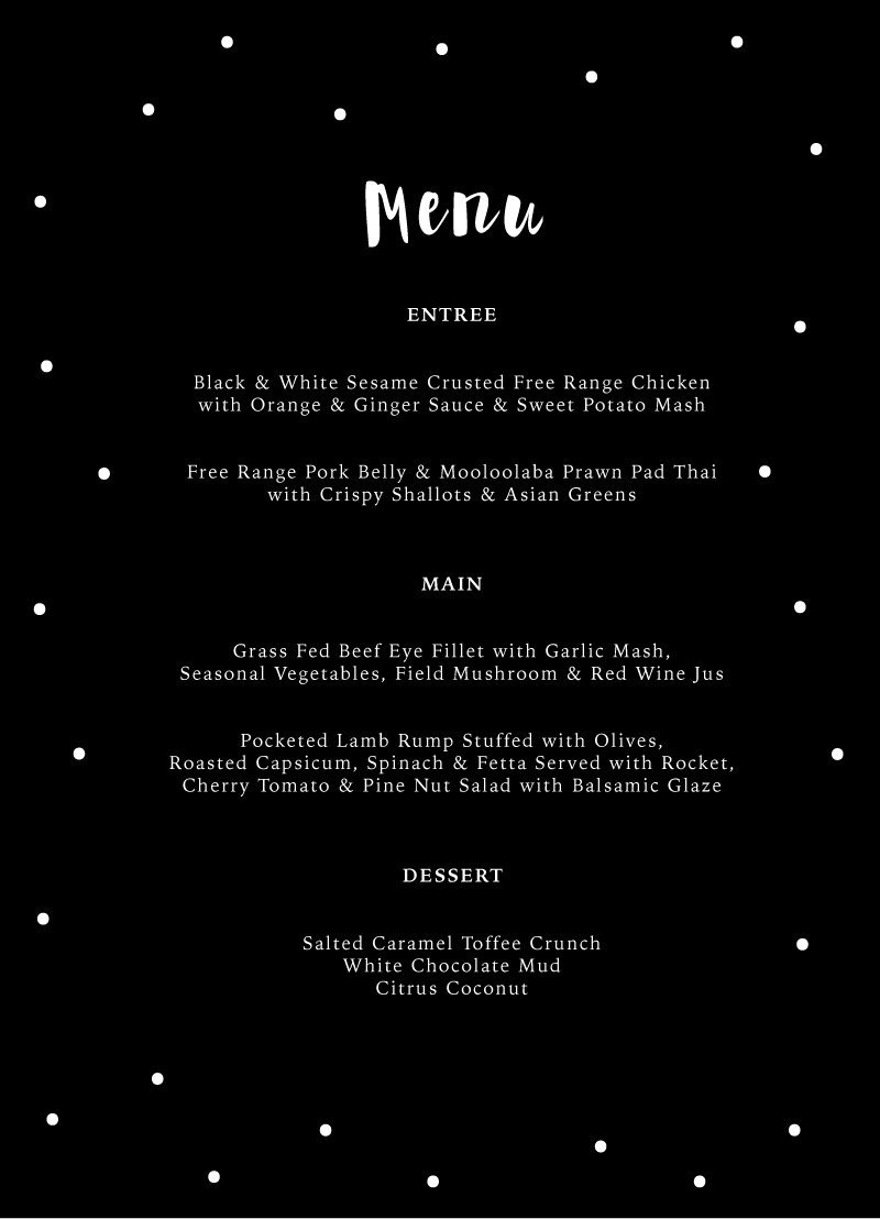 Dots - Menu Card