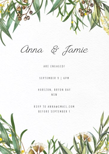 A Bouquet - Engagement Invitations