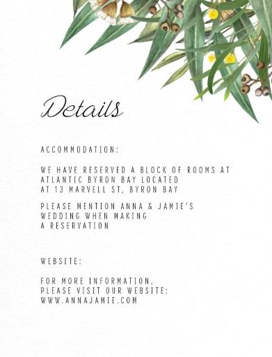 A Bouquet - Information Cards