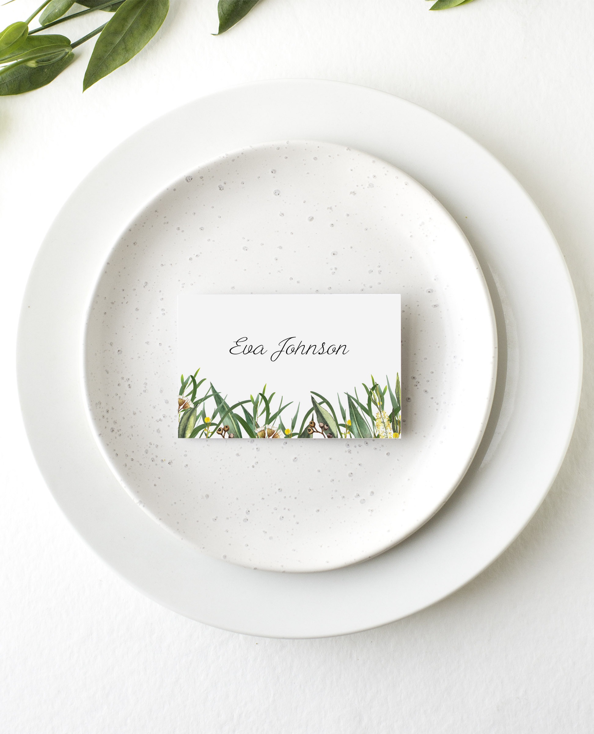 A Bouquet - Place Card