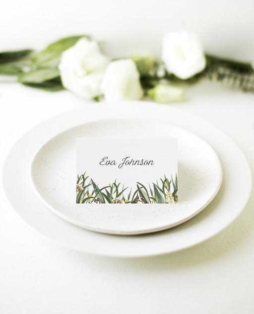 A Bouquet - Place Card