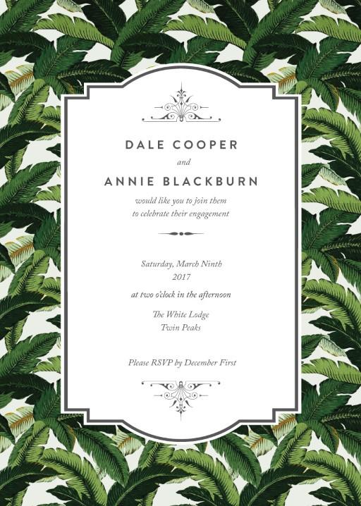 Beverly Hills Hotel - engagement invitations