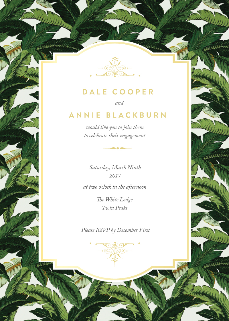 Beverly Hills Hotel - Invitations