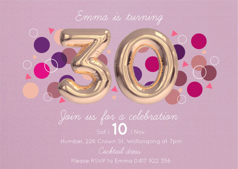 Suddenly 30 - Birthday Invitations