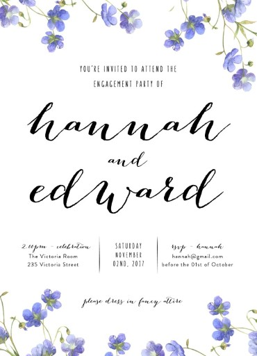 Floral Engagement - Invitations