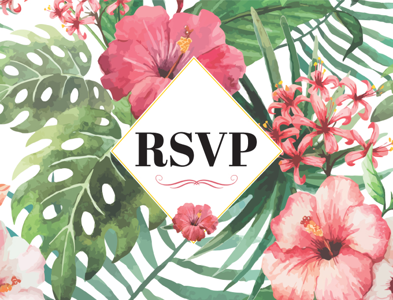 Tropical Daze - RSVP Cards